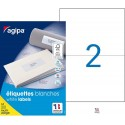 200 étiquettes blanches - A4 - 210x148,5mm - Multi-usage - Agipa 119016