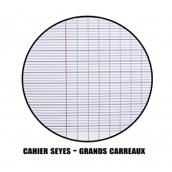 200 copies doubles - Grands carreaux - 70g/m2 - Calligraphe