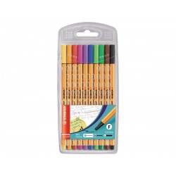 ETUI DE 10 CRAYONS FEUTRE ASSORTIS POINT 88 - STABILO