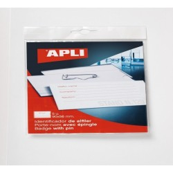 BADGES A LACETS -APLI -90X56 - 5 UNITES -