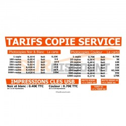 Tarif copie en magasin