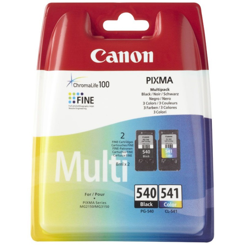 Pack Canon 540+541 pas cher