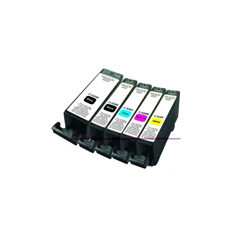 PACK CARTOUCHES COMPATIBLES CANON C-525/526 PACK UPRINT C-525/526 COMPATIBLE CANON
