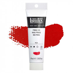 Peinture Acrylique en tube - rouge de pyrrol - Liquitex Heavy Body