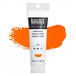 Peinture Acrylique en tube - orange de cadmium - Liquitex Heavy Body