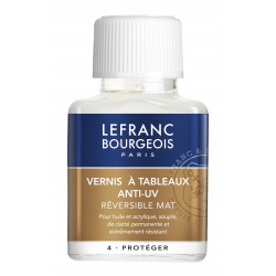 VERNIS MAT A TABLEAUX ANTI UV 75ML LEFRANC BOURGEOIS