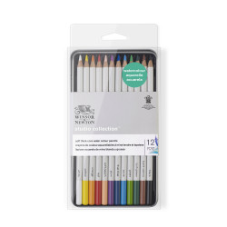 SET DE 12 CRAYONS DE COULEUR AQUARELLABLES STUDIO COLLECTION WINSOR ET NEWTON