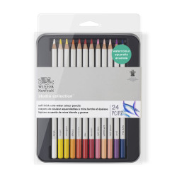 SET DE 24 CRAYONS DE COULEUR AQUARELLABLES STUDIO COLLECTION WINSOR ET NEWTON