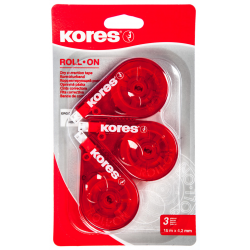 ROLLERS DE CORRECTION LOT DE 3 - ROLL ON - KORES