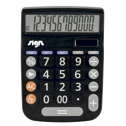 Calculatrice De Bureau 20Mm Sign