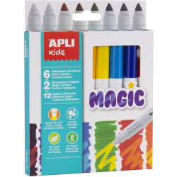 Boîte De 8 Feutres De Couleur - Assortiment - Magic Apli Kids