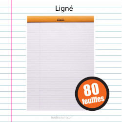 Bloc Notes 210X318 A4+ Ligne 80F Rhodia
