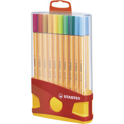 ETUI COLORPARADE - 20 FEUTRES POINT 88 - ASSORTIMENT - STABILO