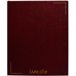 Livre D'Or - 26 X 26,5 Cm - Bordeaux - Sign