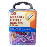 Lot de 100 Attaches Lettres Gainées - Solveig