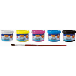 Lot De 5 Mini Pots De Gouache - 35Ml - Jovi