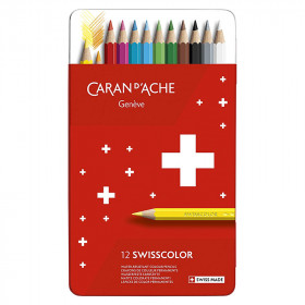 12-crayons-couleurs-permanents-caran-d'ache