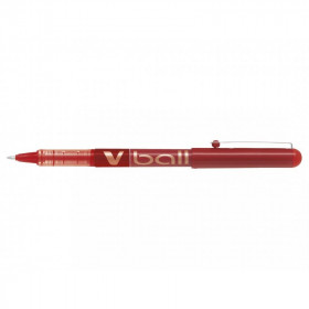 Stylo gel V-Ball 1.0 pointe moyenne rouge Pilot