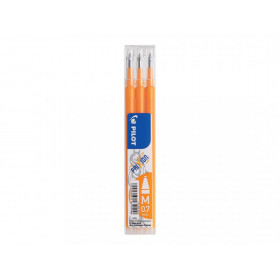 Lot de 3 recharges FriXion pointe moyenne 0,7mm orange Pilot