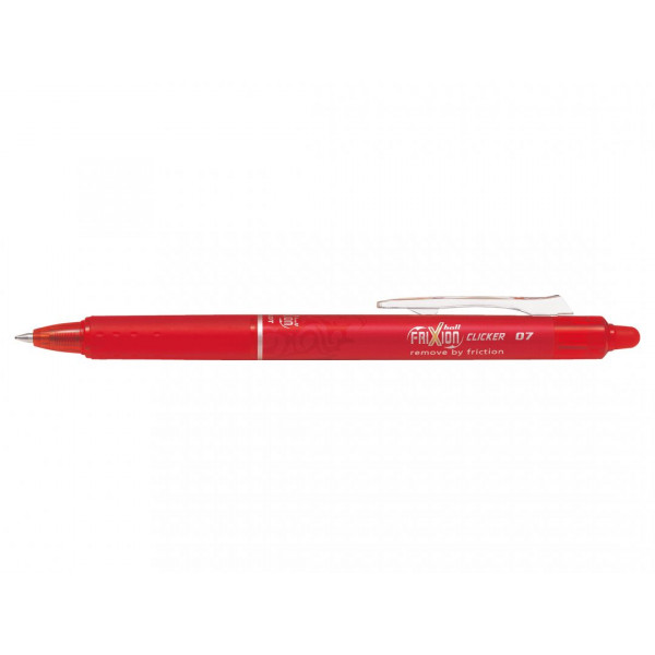 Stylo FriXion Ball Clicker 0.7 pointe moyenne rouge Pilot