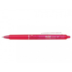 Stylo FriXion Ball Clicker 0.7 pointe moyenne rose Pilot