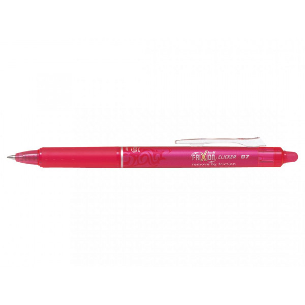 Stylo FriXion Ball Clicker 0.7 pointe moyenne rose Pilot pas cher
