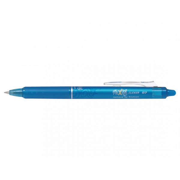 Stylo FriXion Ball Clicker 0.7 pointe moyenne turquoise Pilot pas cher