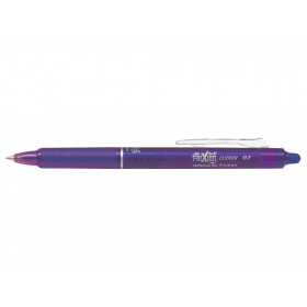 Stylo FriXion Ball Clicker 0.7 pointe moyenne violet Pilot pas cher