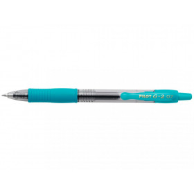 Stylo G-2 roller encre gel pointe moyenne turquoise Pilot pas cher