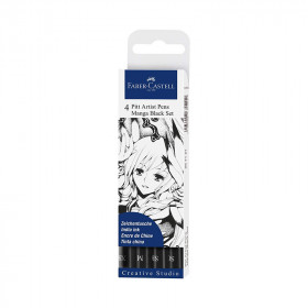 Feutre-Pitt-Arist-Pen-manga-black-set