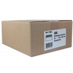 500 enveloppes blanches - 110 x 220mm - Auto-adhesives - GPV