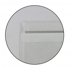 500 enveloppes blanches - 110 x 220mm - Autocollante - GPV