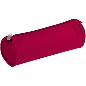 Trousse ronde en polyester 22 x 7 cm rouge Clairefontaine