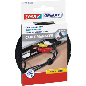 Bande auto-agrippante Tesa On & Off Cable Manager 5m x 10mm