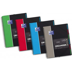 Cahier Trieur OrganiserBook Oxford A4+ 160 pages grands carreaux