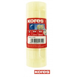 Lot de 8 rouleaux ruban adhésif - Transparent - 33mx19mm - Kores