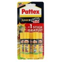 Lot de 4 + 1 bâtons de colle de 11g - Colle blanche en stick - Junior SuperStick - Pattex