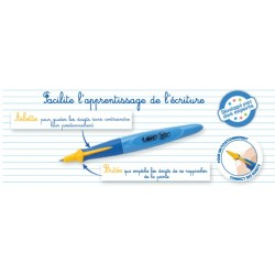 Stylo d'apprentissage - Bic Kids - Rétractable - Bleu