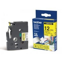 Ruban laminé Brother TZ-631 12mm noir/jaune
