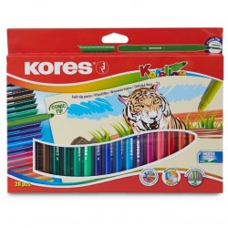Feutres de coloriage Korelos - Pointe large - 10 feutres - Kores