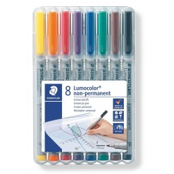 8 Feutres Lumocolor non permanents pointe fine 0.6 mm Staedtler