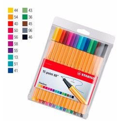 LOT DE 15 CRAYONS FEUTRES POINT 88 STABILO
