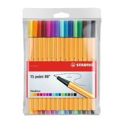 LOT DE 15 STYLOS POINT 88 - STABILO