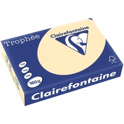 250 Feuilles A4 - 160 G -  Chamois - Trophee Clairefontaine - 1040C