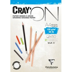 Bloc Cray'On A4 - 50 Feuilles - 120G - Clairefontaine pas cher