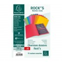 PAQUET DE 10 CHEMISES ROCK''S 210 - 24X32CM - COULEURS ASSORTIES EXACOMPTA 217001E