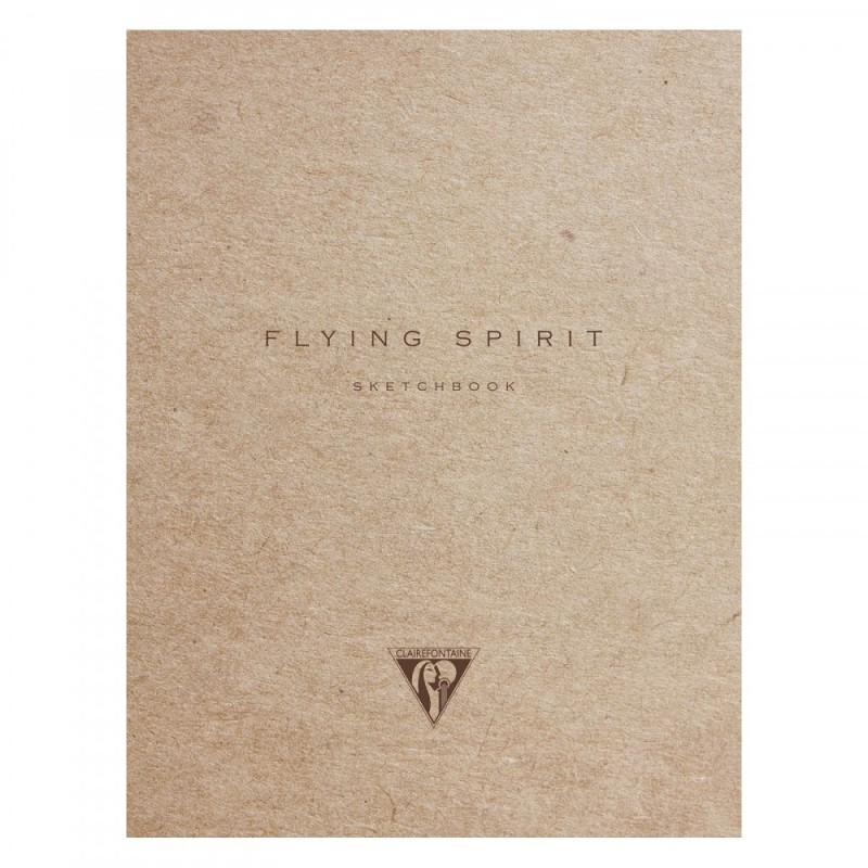 Carnet cousu Flying Spirit 16x21 cm ivoire kraft 120 pages – Clairefontaine