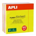 Bloc notes couleurs vives assorties 75x75mm Apli 10974