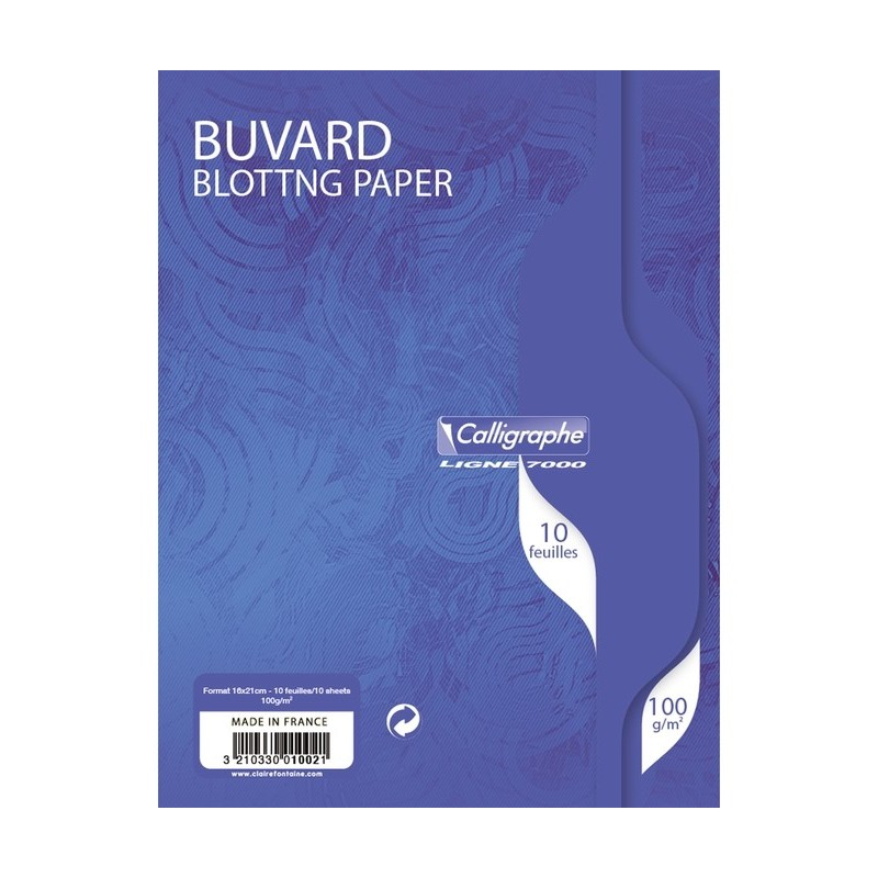 BUVARDS 10 FEUILLES 16x21 100G CLAIREFONTAINE 1002C