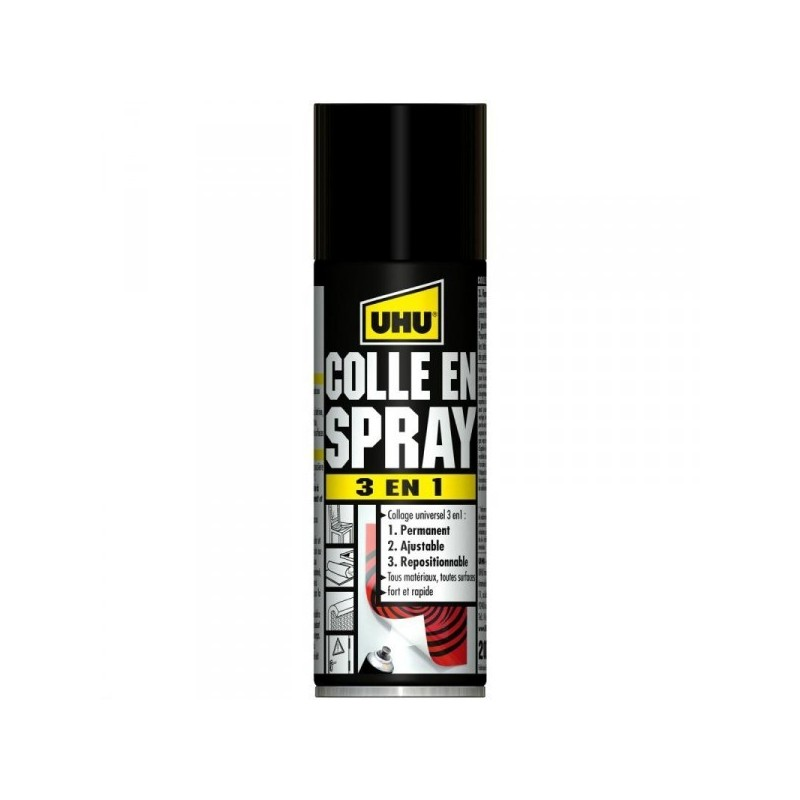 COLLE EN SPRAY 3 EN 1 200ML - UHU